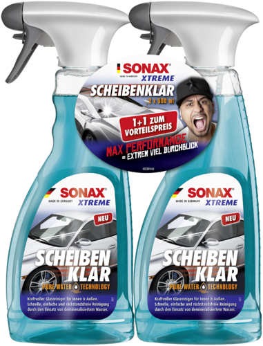 SONAX XTREME ScheibenKlar Pure Water Technology