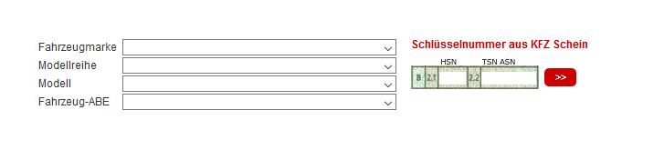 Verfügbarkeits-Konfigurator AEZ, DOTZ, ENZO, DEZENT, ALCAR